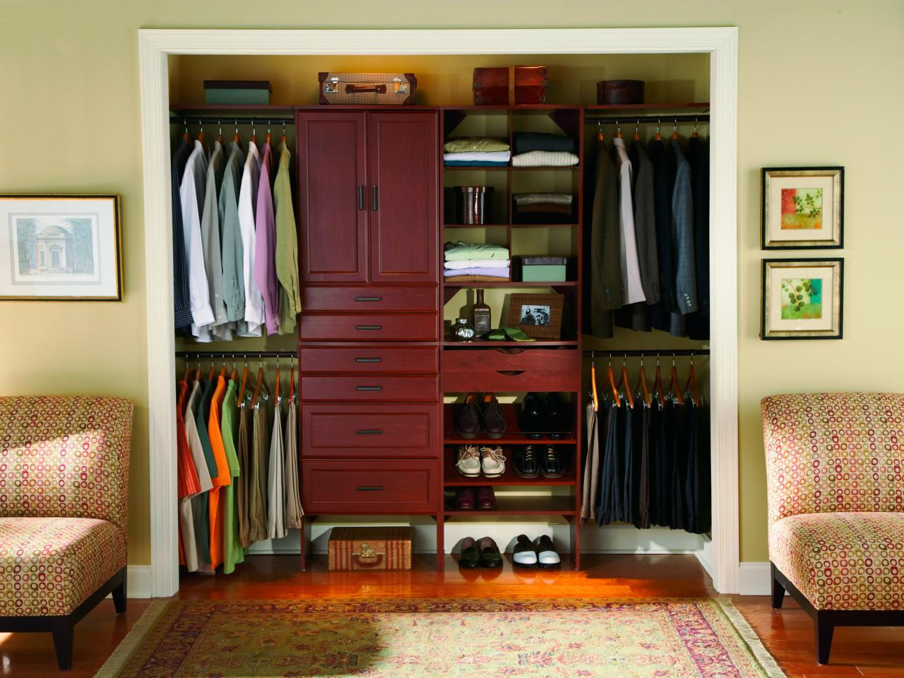 Small Bedroom Wardrobe Solutions Small Closet Organization Ideas Pictures Options Tips Hgtv