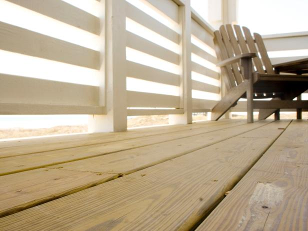 Deck Pressure Treated Wood Close Up