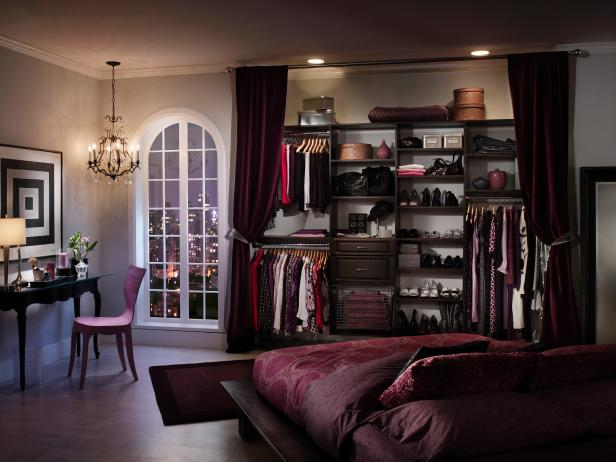Open Closet Curtain