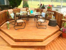 Deck Pressure Treated Wood Octogon