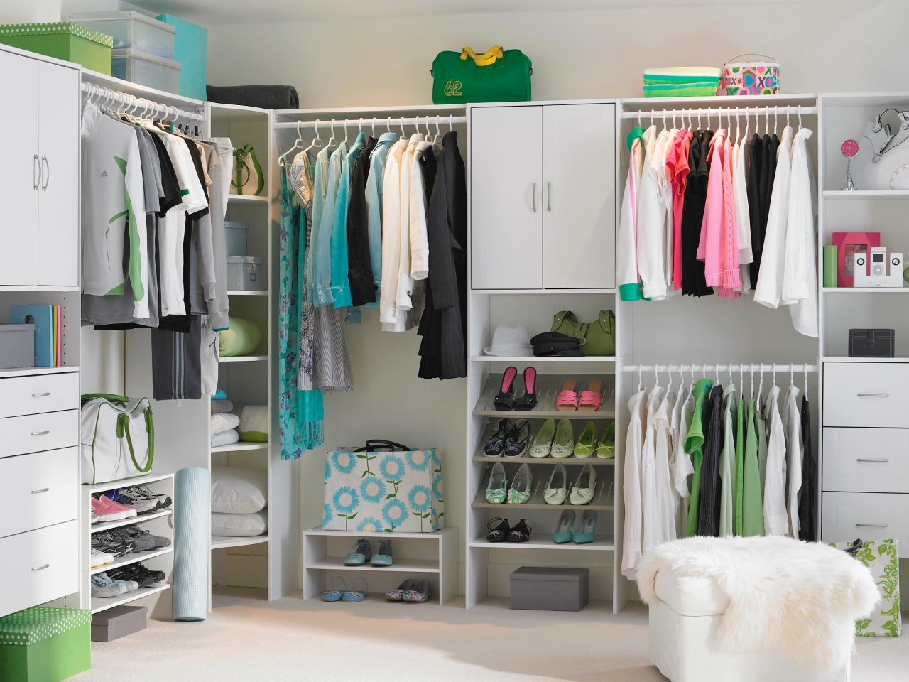 Master Closet Design Ideas HGTV - Master bedroom closet organization ideas