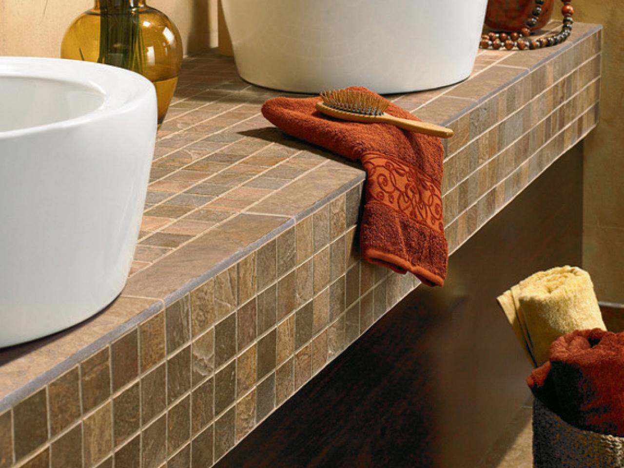 Tile countertop buying guide hgtv for Bathroom countertops