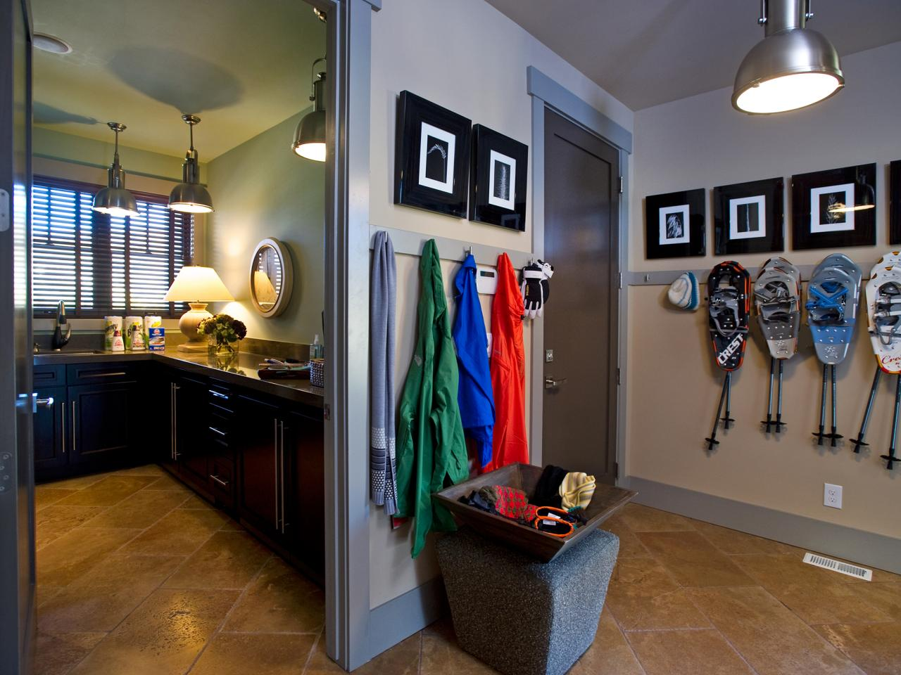 Choose durable mudroom materials hgtv for Room design 4x3