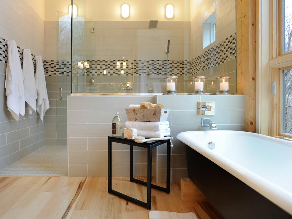 Spa bathroom makeover photos hgtv for Spa style master bathroom