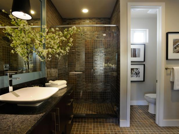 Earth-toned Master Bathroom