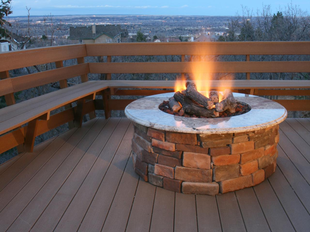 brick and concrete fire pits - Fire Tables