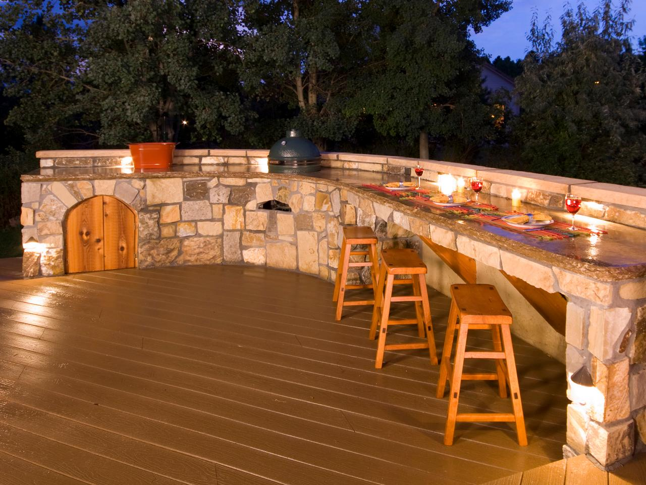 Outdoor bars options and ideas hgtv for Backyard decks