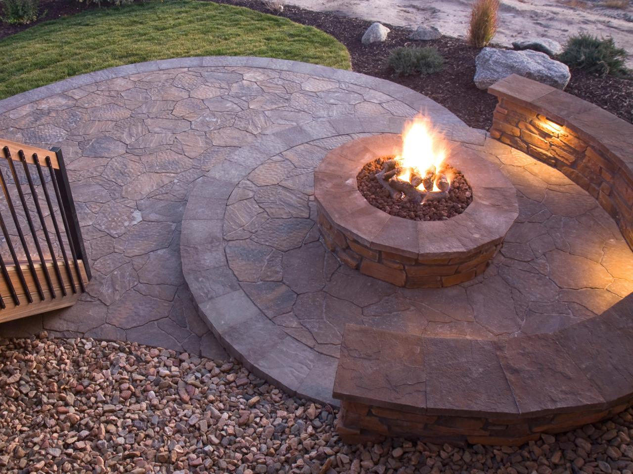 How to plan for building a fire pit hgtv for Brick fire pit construction