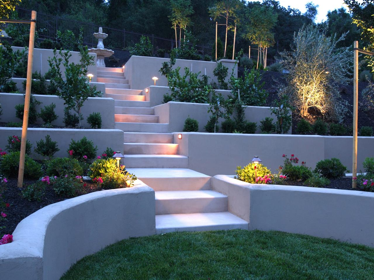 Hardscape design ideas hgtv for Outside landscape design