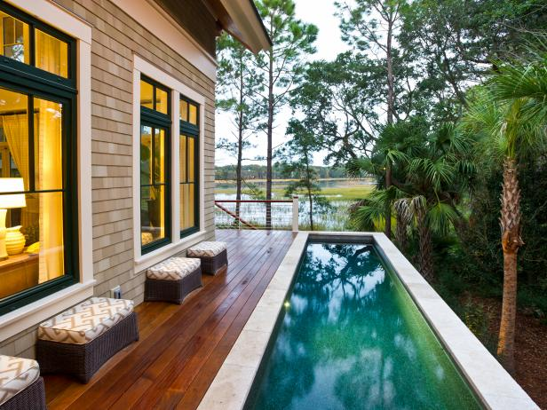 Sleek Pool Deck at 2013 HGTV Dream Home