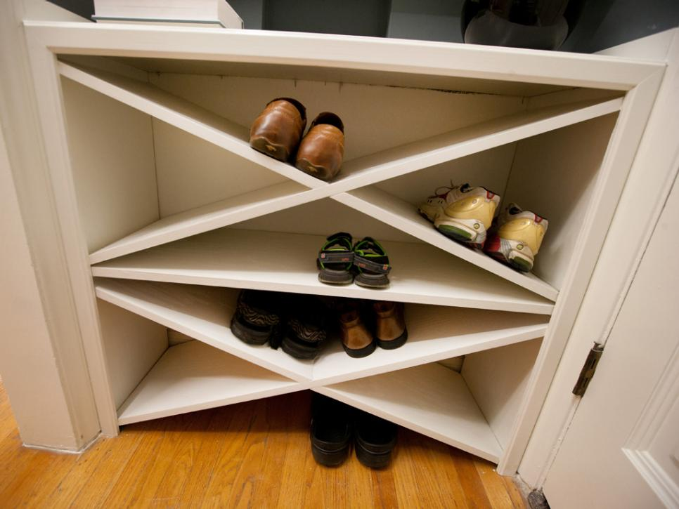 Shoe storage ideas hgtv Living room shoe storage ideas