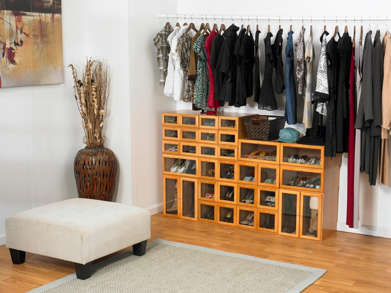Shoe cubbies for closets hgtv Pictures of closet organizers