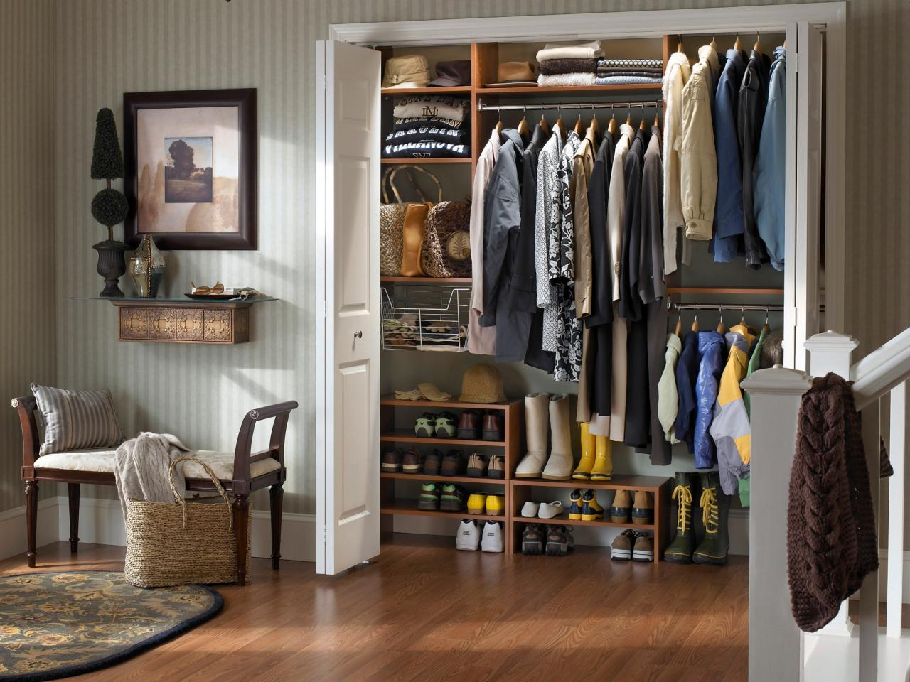 Foyer Closet For Garments : Shoe storage benches hgtv