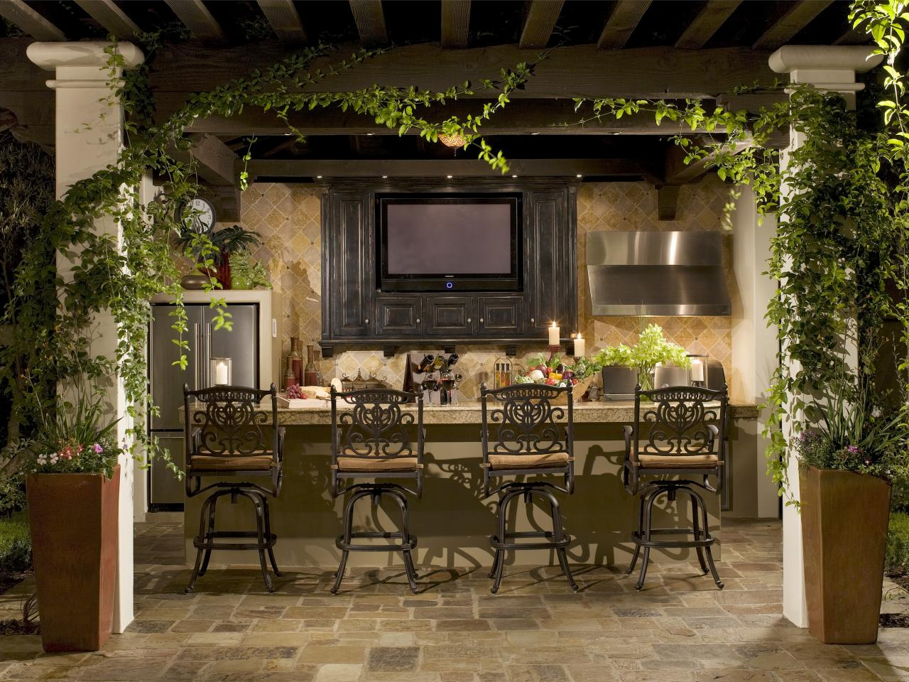 Backyard Kitchen And Bar : 55 Patio Bars + Outdoor Dining Rooms  Outdoor Design  Landscaping