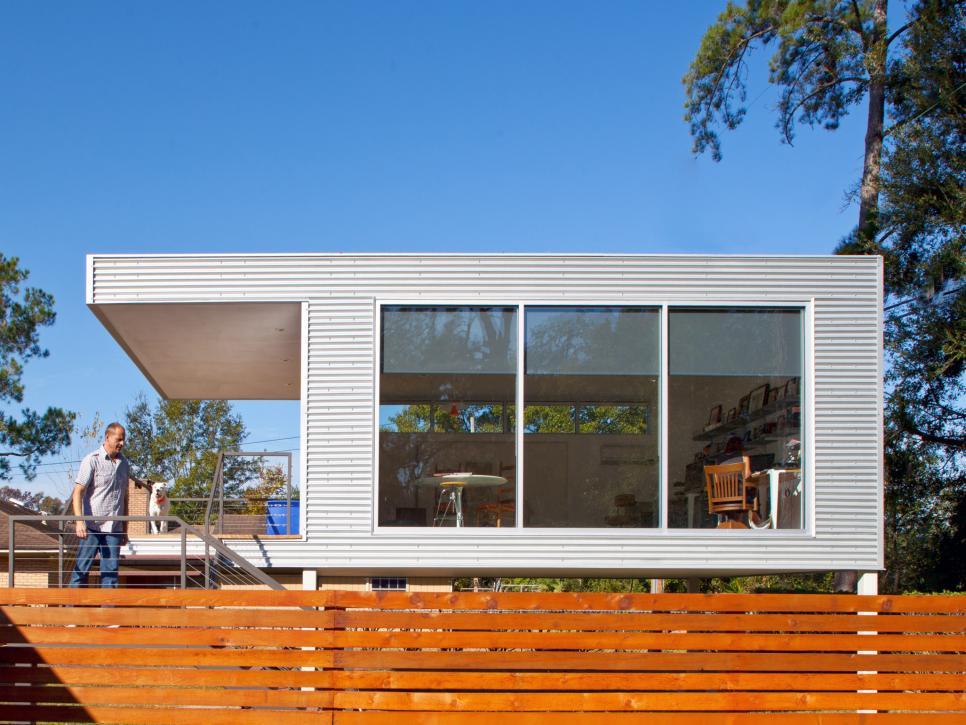 MidCentury Modern Prefab Addition HGTV - Mid century modern modular homes