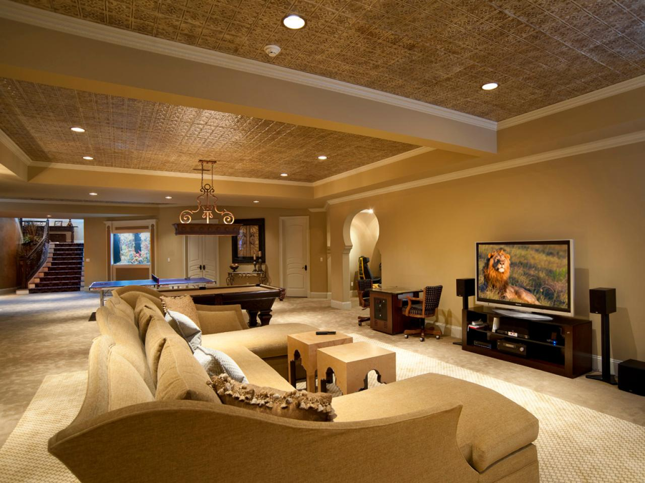 Home Basement Designs Interior Stunning Basement Remodel Splurge Vssave  Hgtv Inspiration
