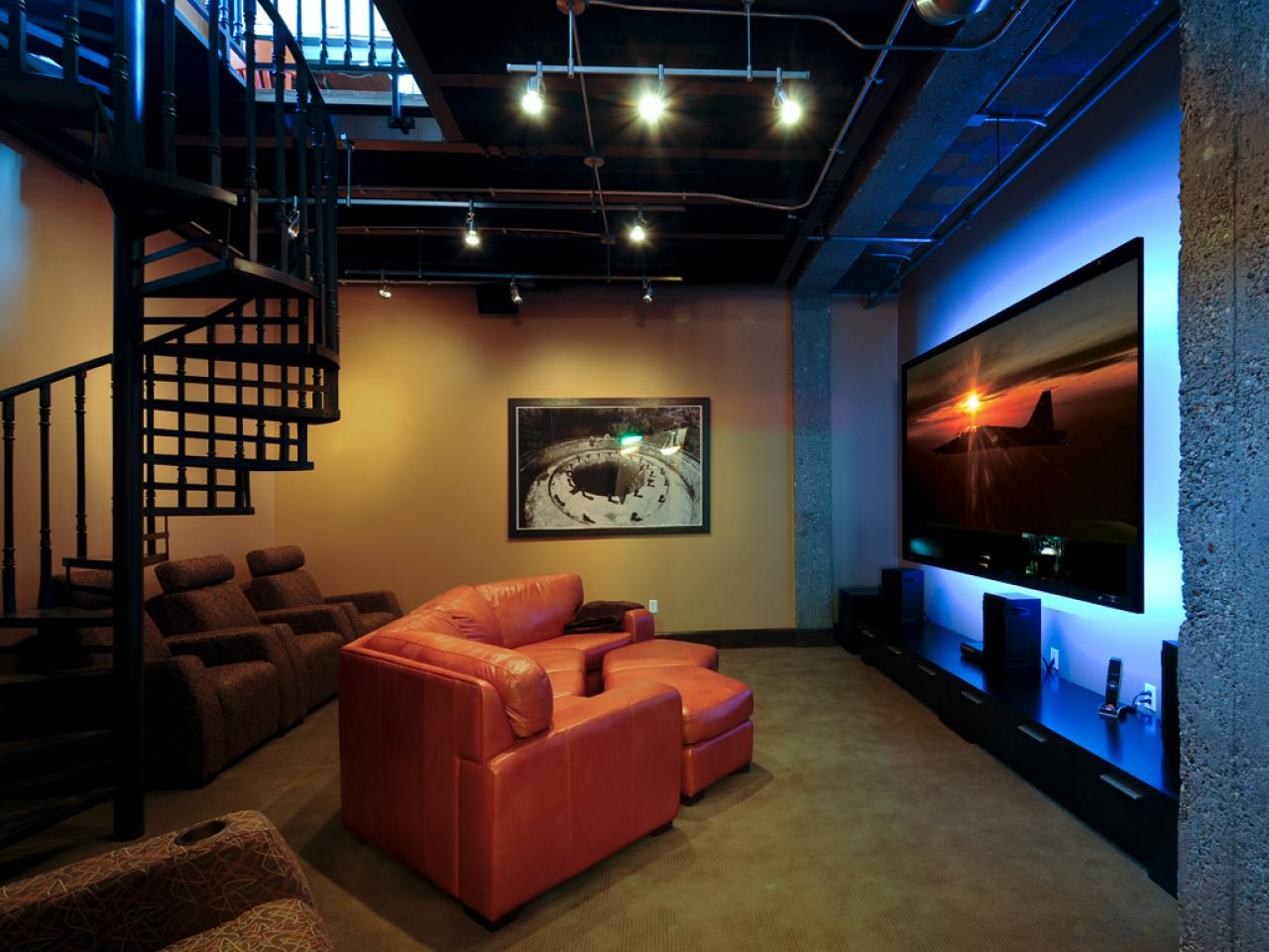 Home Basement Designs Interior Glamorous Basement Design And Layout  Hgtv Decorating Inspiration