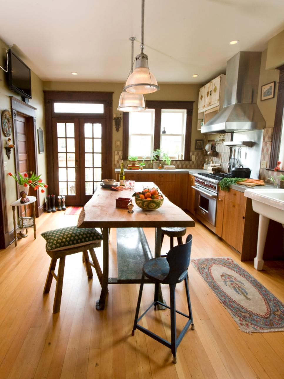 A kitchen with vintage character hgtv for Old home kitchen remodel