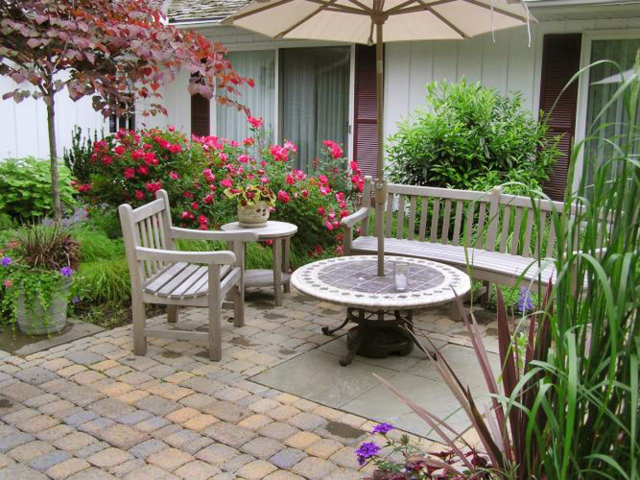 choosing materials for your patio | hgtv - Patio Stone Ideas