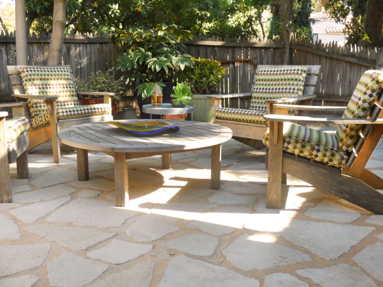 choosing materials for your patio | hgtv - Brick Stone Patio Designs