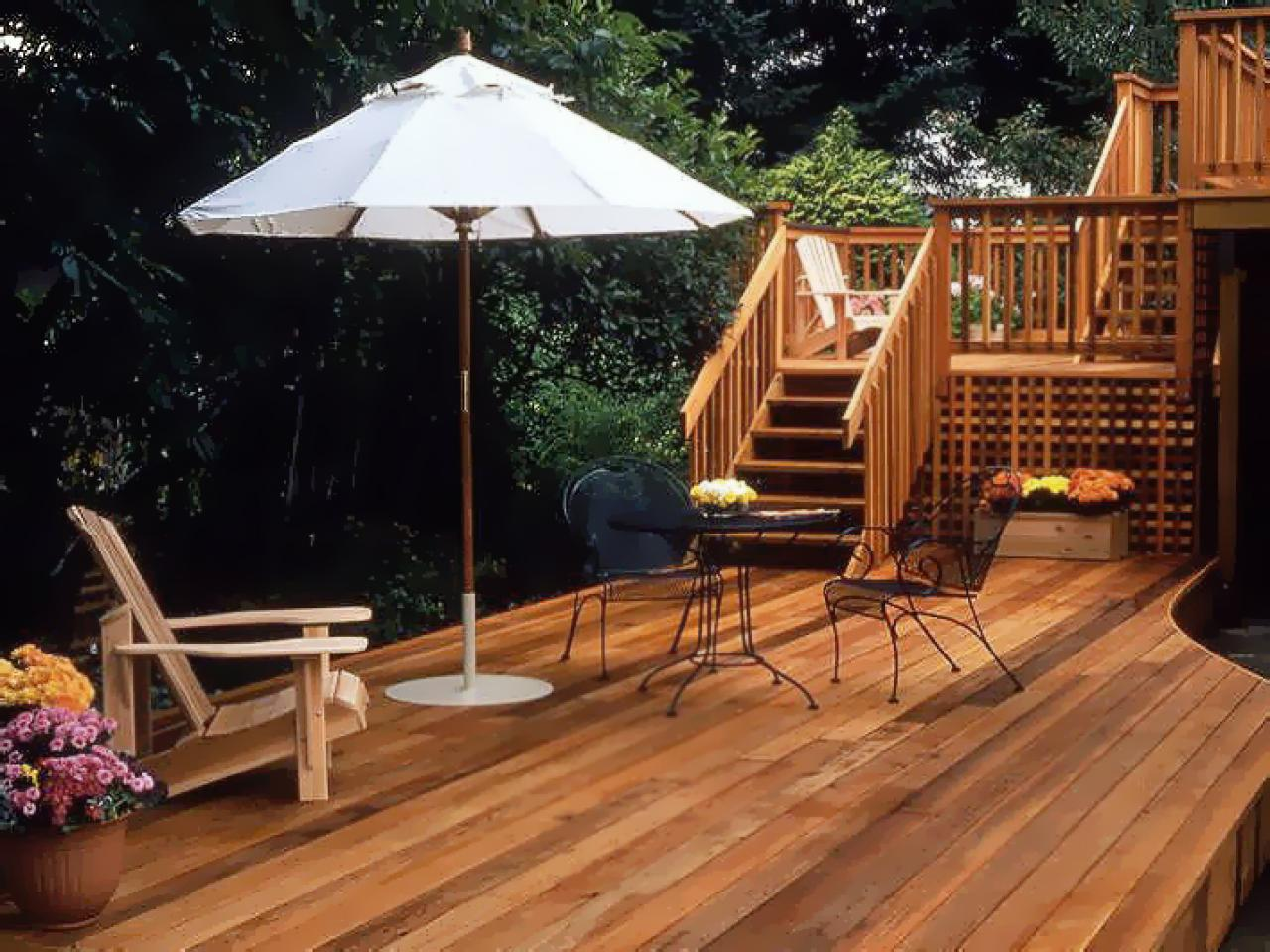 Wood decking materials hgtv for Outside decking material