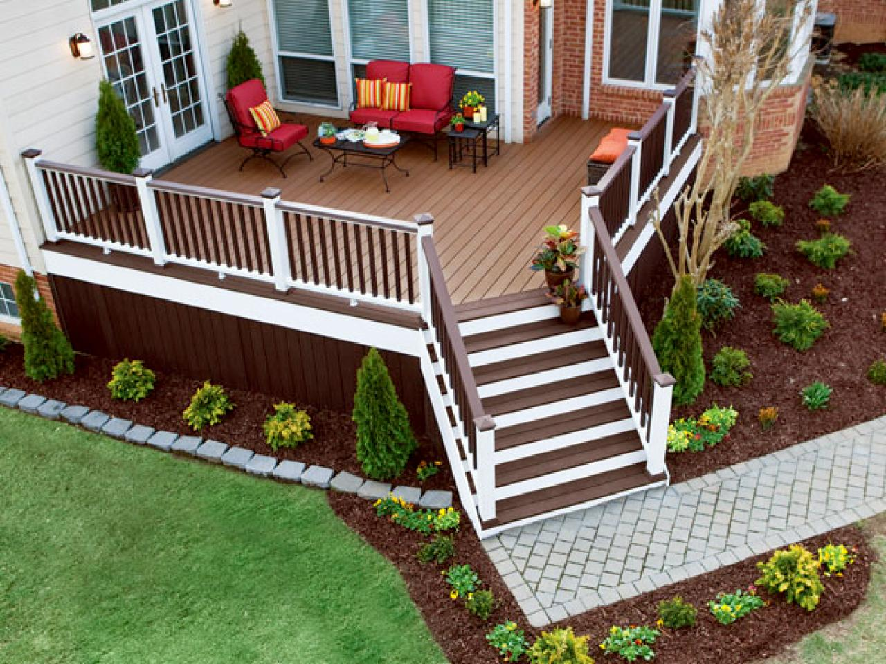 Accessing your deck hgtv for Backyard decks
