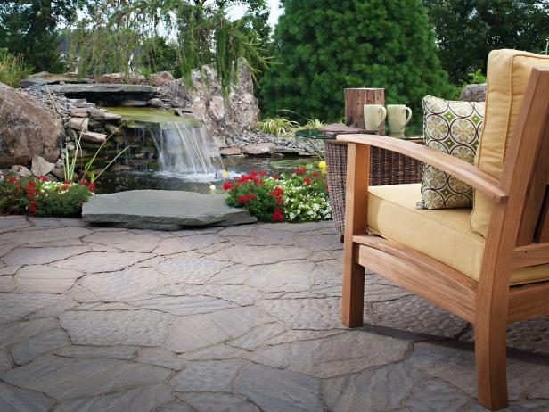 Serene Backyard Waterfall