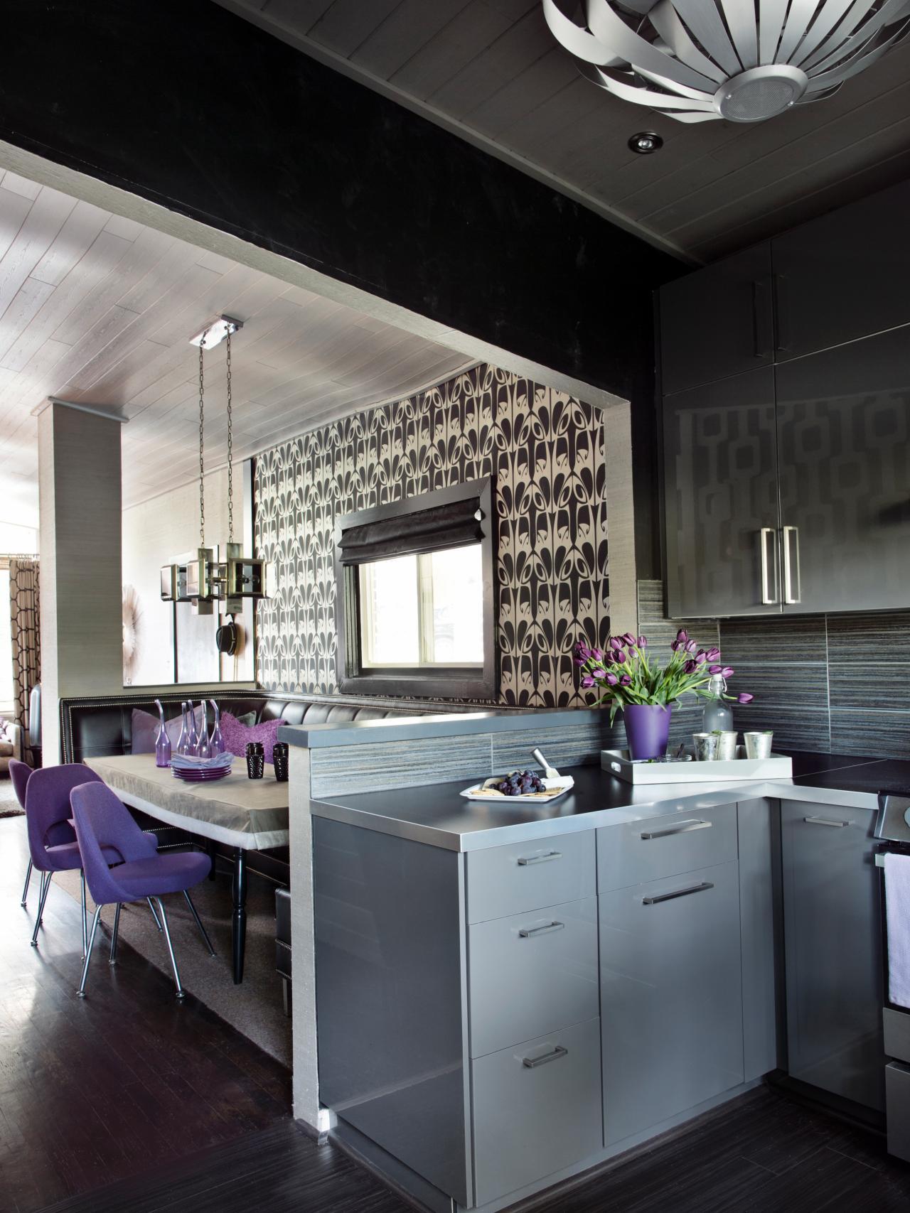 Gray Inspires Midcentury Kitchen