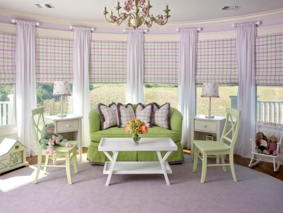purple bedrooms for your little girl hgtv - Ideas For Decorating A Girls Room