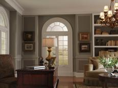 Colonial Office With Arched Windows