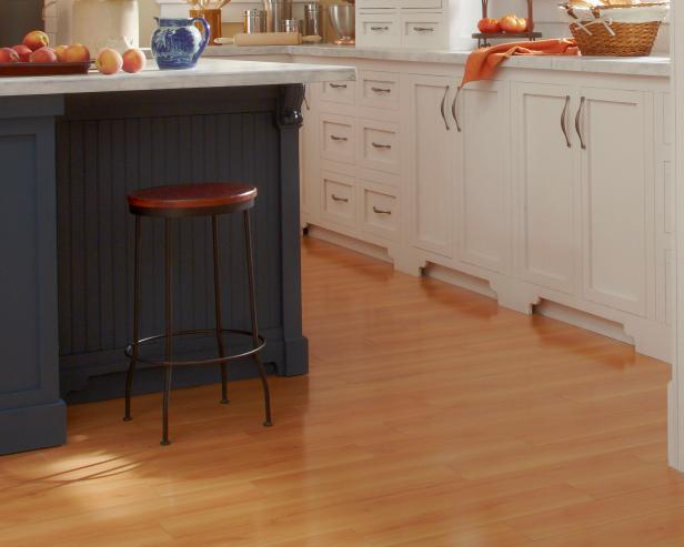 Farmhouse Kitchen With Light Hardwood Flooring