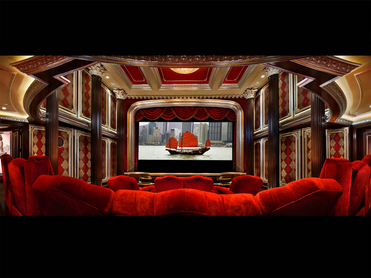 Home theater curtains pictures options tips ideas home remodeling ideas for basements Interior design ideas home theater