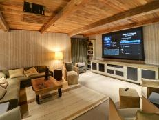 Rustic Media Room
