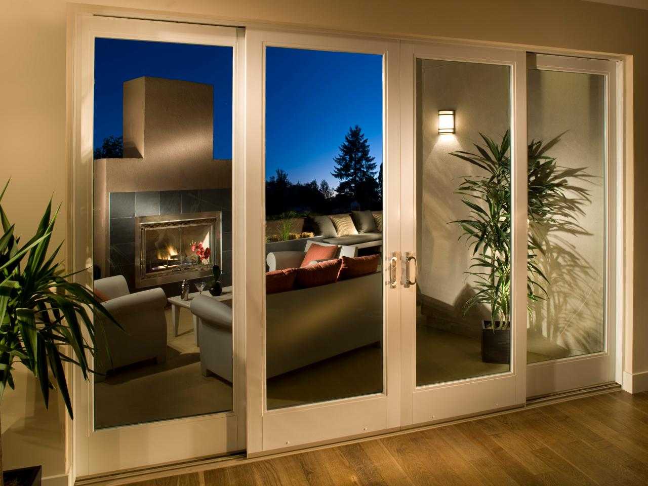 Sliding patio doors hgtv for Exterior sliding doors