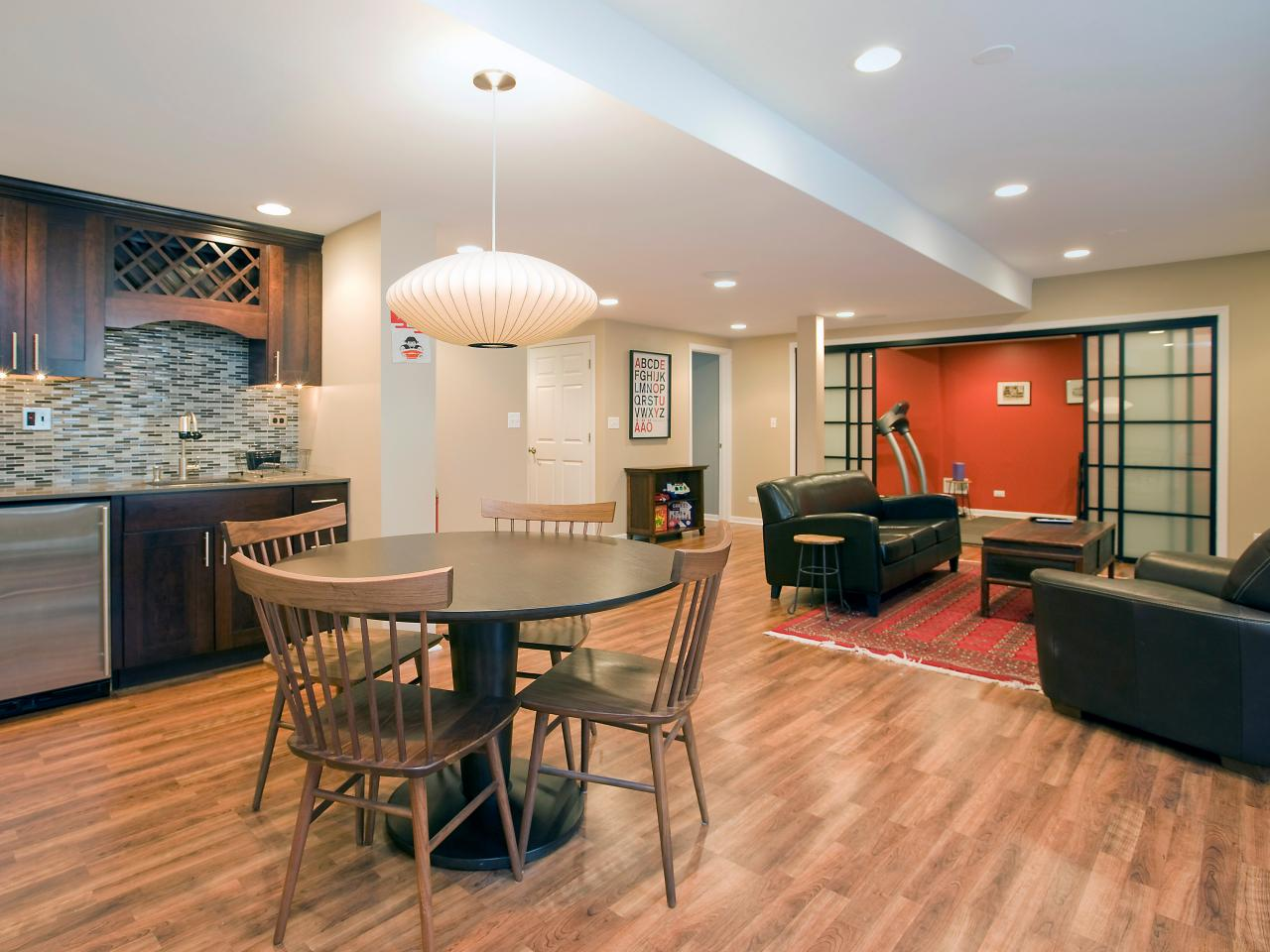 Managing a basement remodel hgtv for Living room renovation ideas