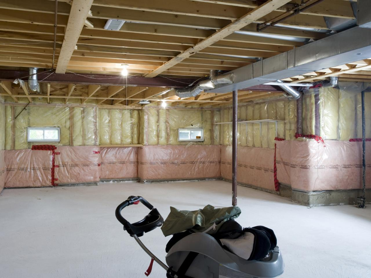 Solving Basement Design Problems HGTV - Unfinished basement wall covering
