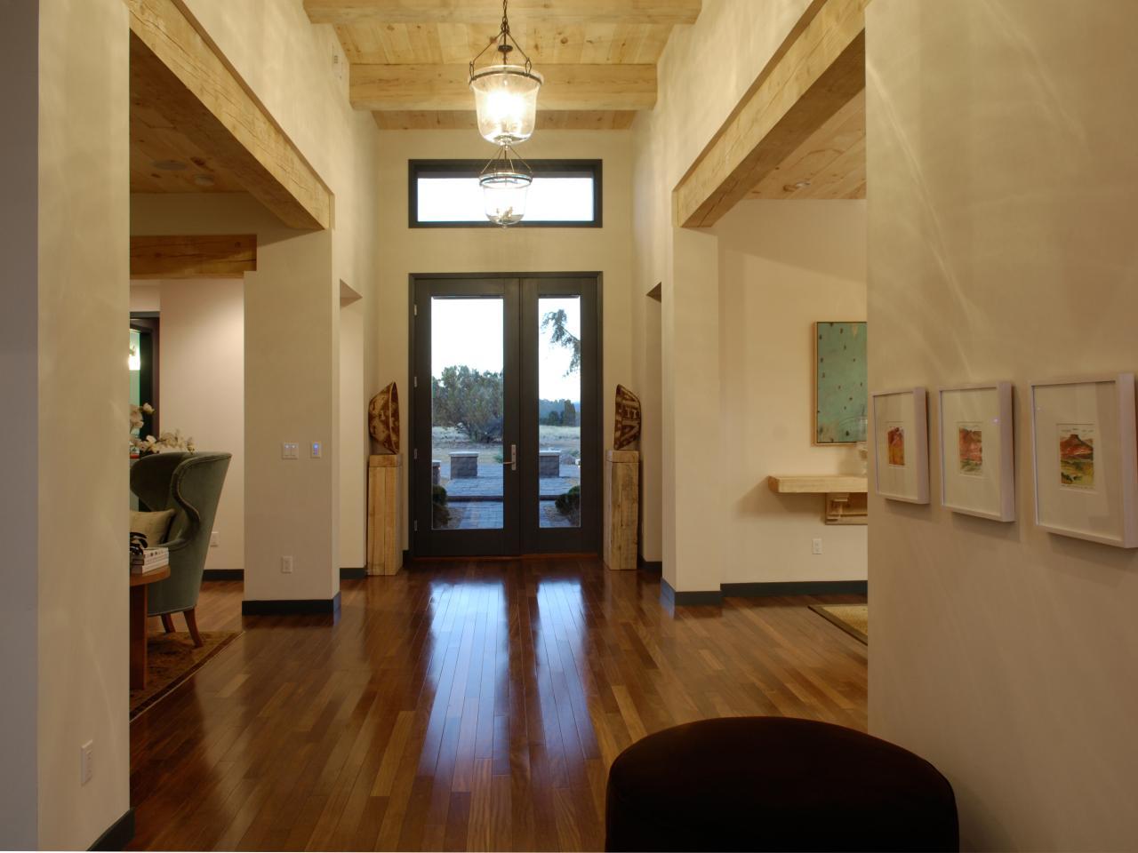 Front doors wood steel and fiberglass hgtv for Hall entrance door designs
