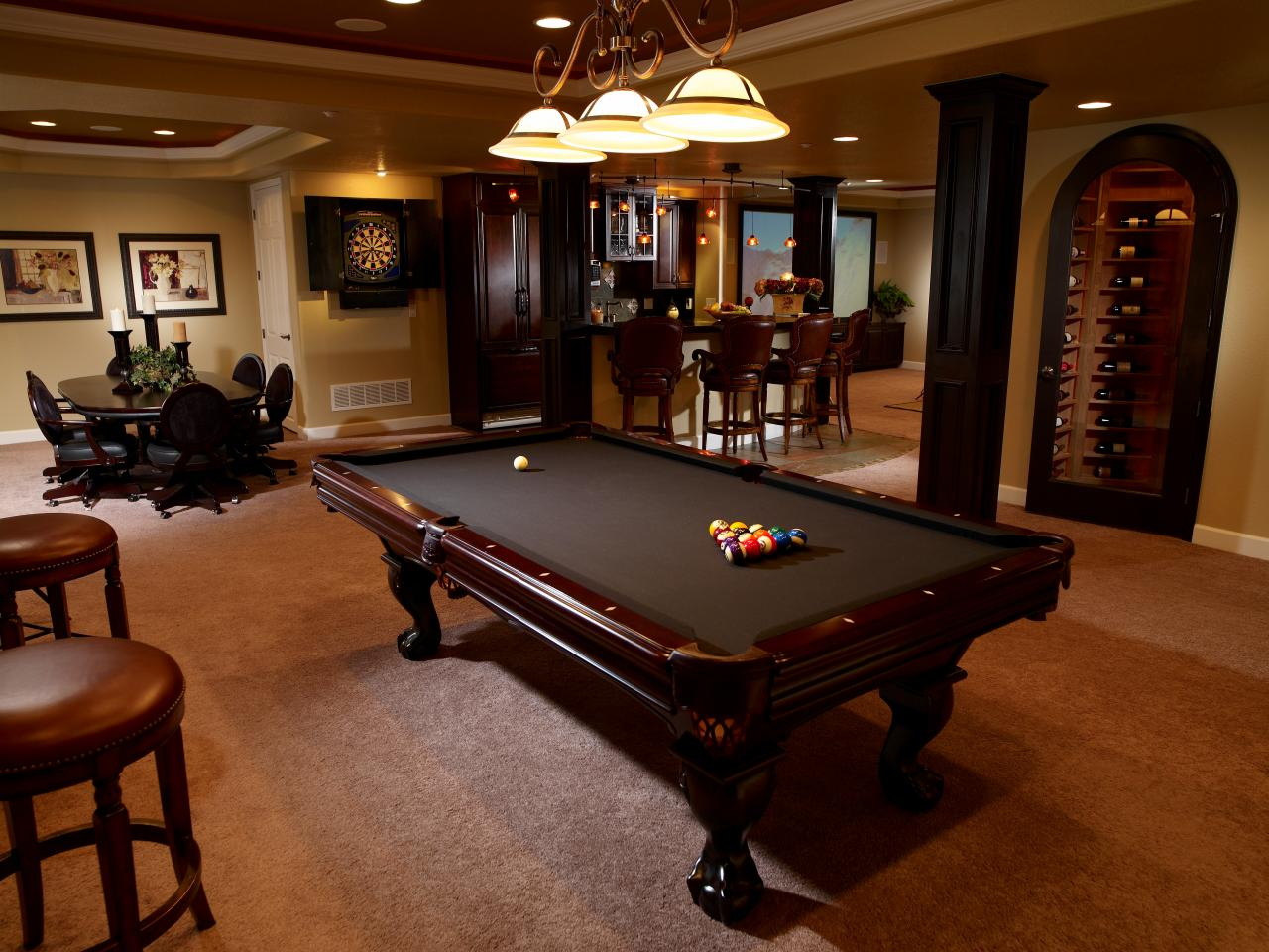 Ideas for finished basements home remodeling ideas for Basement game room ideas