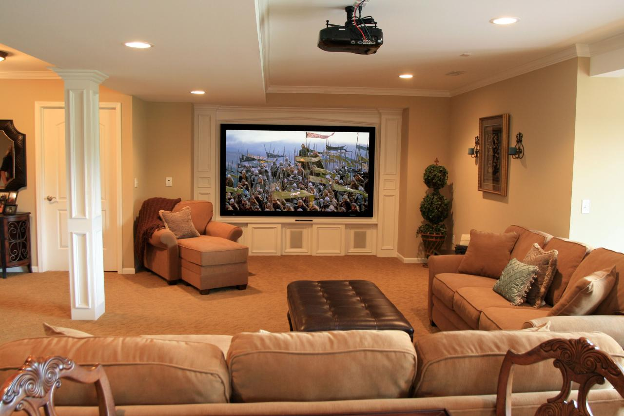 Ideas for finished basements home remodeling ideas for basements home theaters more hgtv - Finished basements ideas ...
