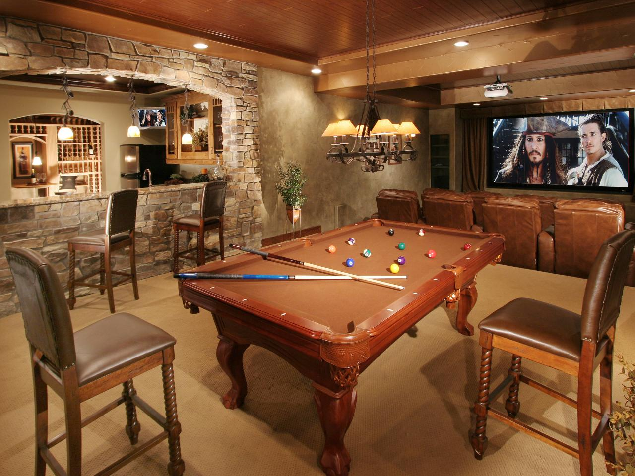 Finished Basement Design Ideas 20 clever and cool basement wall ideas Lounge Worthy Basements See All Photos