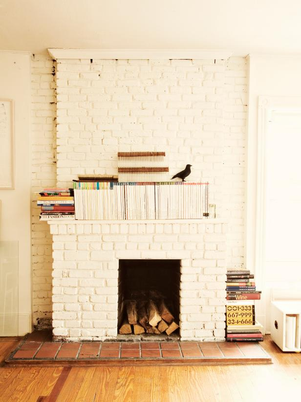 15 Gorgeous Painted Brick Fireplaces | HGTV's Decorating & Design ...
