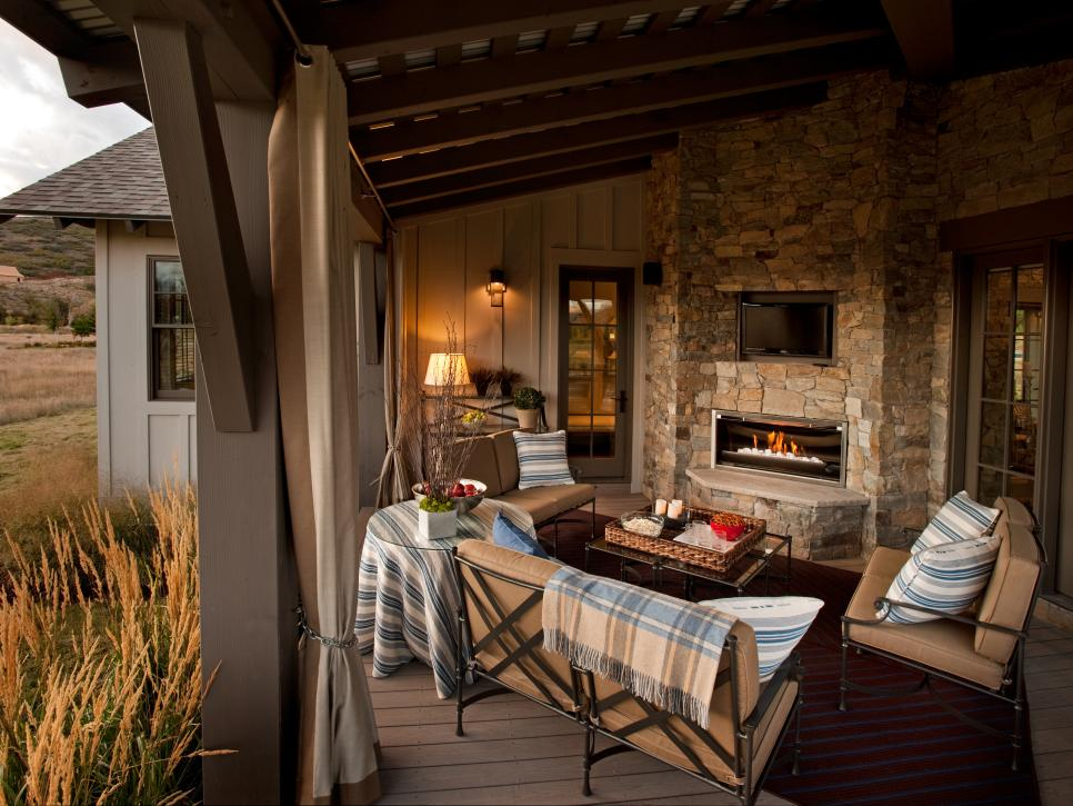 Cozy Outdoor Fireplaces Hgtv