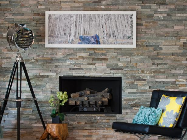 fireplaces stone brick and more hgtv. Black Bedroom Furniture Sets. Home Design Ideas
