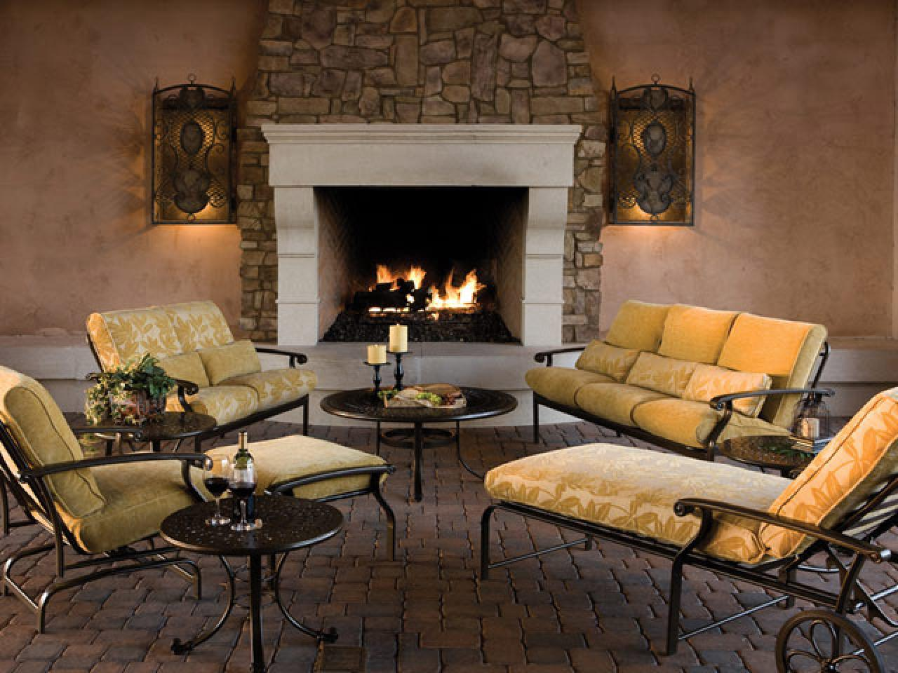 How to plan for building an outdoor fireplace hgtv Fireplace setting ideas