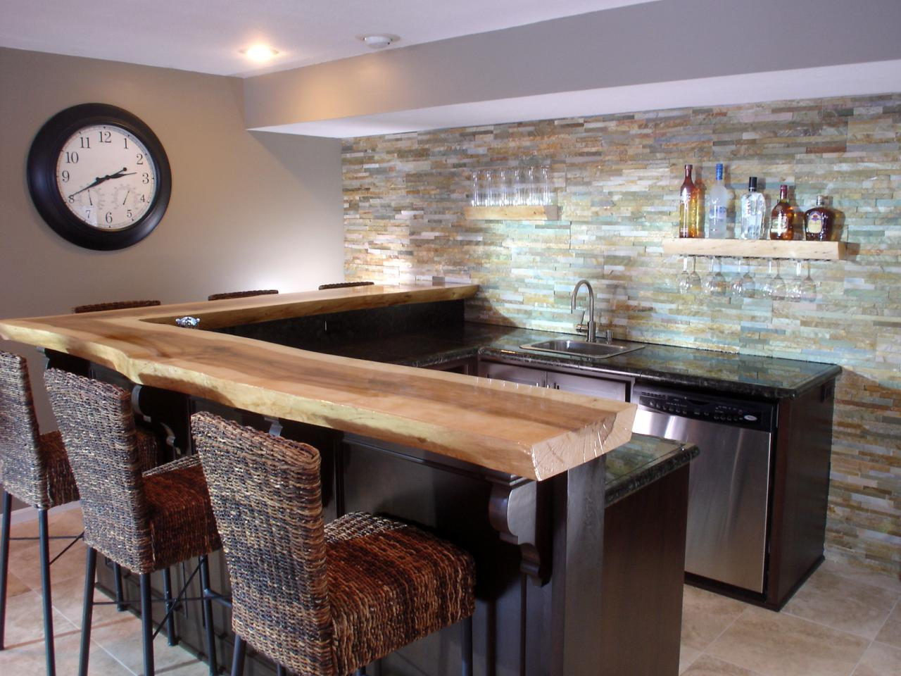 Bar Countertop Ideas New Basement Bar Ideas And Designs Pictures Options & Tips  Hgtv Inspiration Design