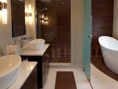Contemporary Bathroom With Freestanding Tub