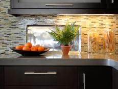 Kitchen Countertop with Stunning Mosaic Tiled Backsplash