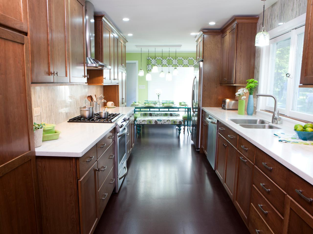 Galley kitchen designs hgtv for Galley kitchen remodel ideas