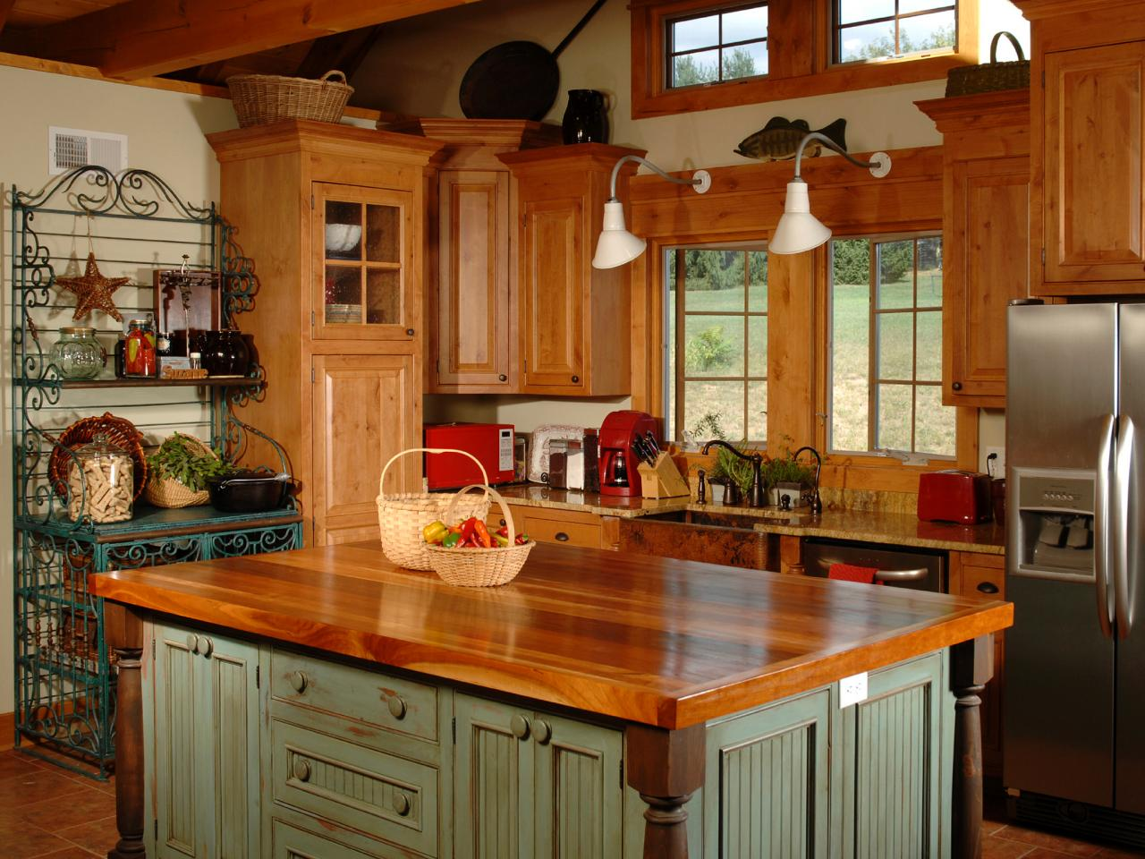 ordinary Pictures Of Country Kitchens With Islands #1: Country Kitchen Islands