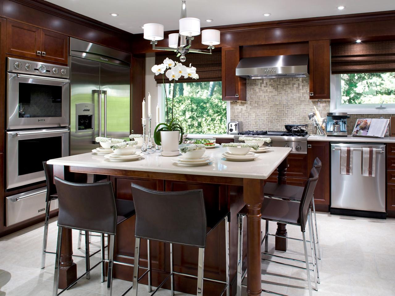 Kitchen island tables hgtv for Kitchen designs island